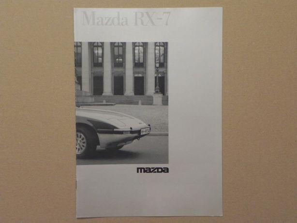Prospekt - MAZDA RX-7 - 1985 r