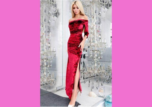 Роскошное велюровое платье в пол вечернее модное шикароное