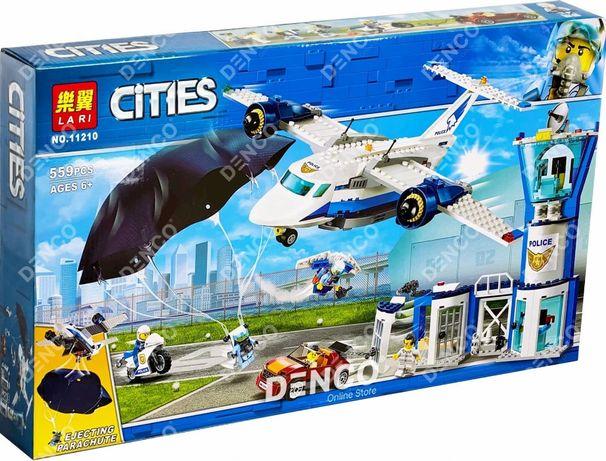 Конструктор Lari 11210 Воздушная полиция: авиабаза LEGO City 60210