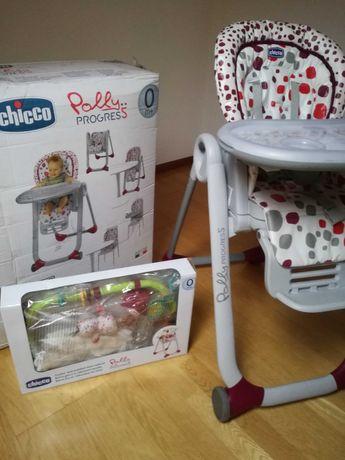 Cadeira papa espreguiçadeira Polly Progres5 Chicco com kit 0m+