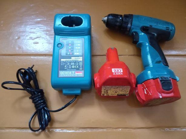 Wkrętarka Makita 12V ,ładowarka + 2 baterie