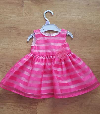 Sukienka 3-6 miesiecy 68 dla malej ksiezniczki