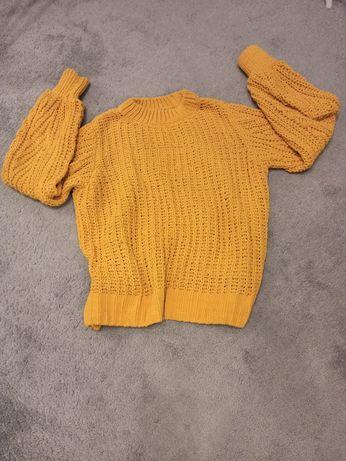 Musztardowy, miękki sweter Orsay, M.
