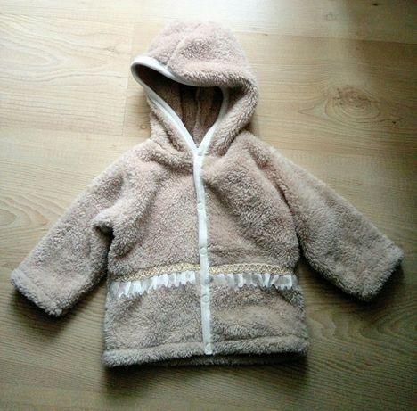 Кофта теплая на девочку 9-12 месяцев