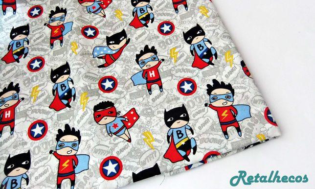 Retalhos Super Heróis 100% algodão