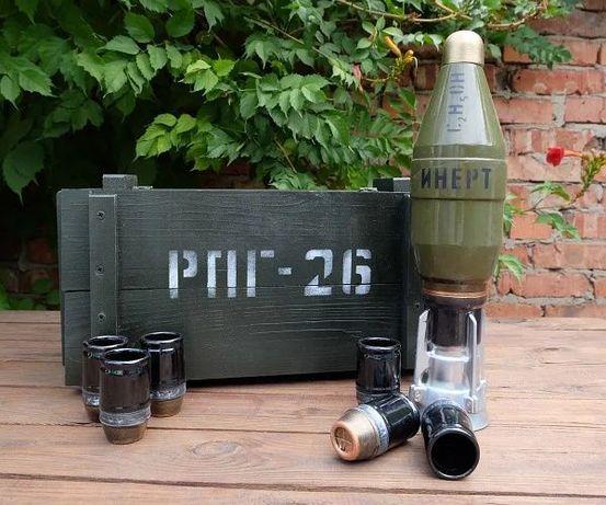 Мина в ящике от РПГ-26 Инерт - набор для алкоголя, подарок военному