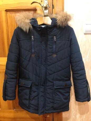 Куртка-парка зимняя для мальчика 134 рост