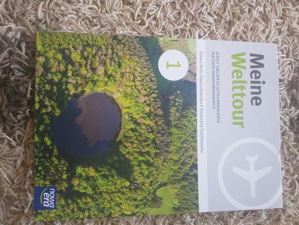 Meine Welttour 1 zeszyt ćwiczeń do języka niemieckiego nowe