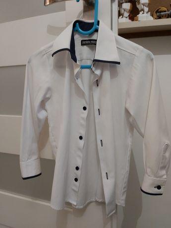 Biała koszula dla chłopca rozm 110
