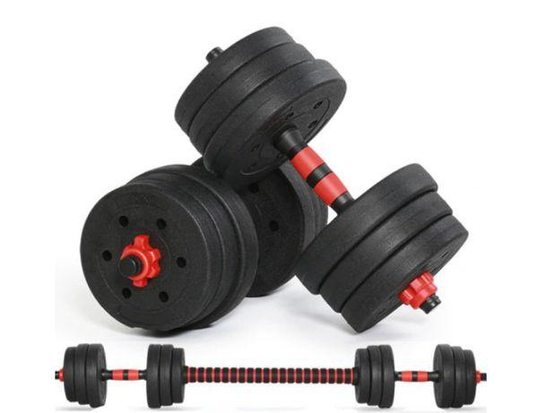 HANTLE 30kg + Sztanga Łączona   Siłownia Fitness Trening W Domu