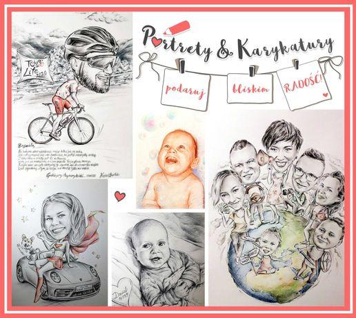 Portret & Karykatura - rysunek - prezent - urodziny ślub rocznica