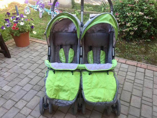 Прогулянкова коляска для двійні EasyGo + дощовик у подарунок