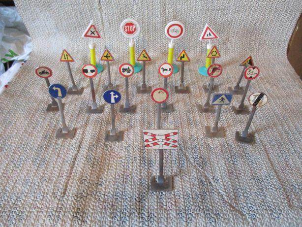 Znaki drogowe PRL zabawki