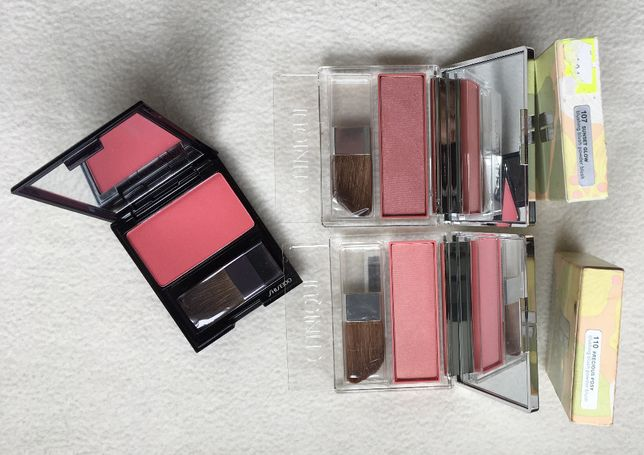 блеск для губ румяна коректор тональный крем Shiseido YSL Clinique