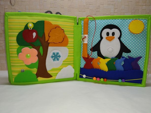 Развивающая книжка из фетра для деток