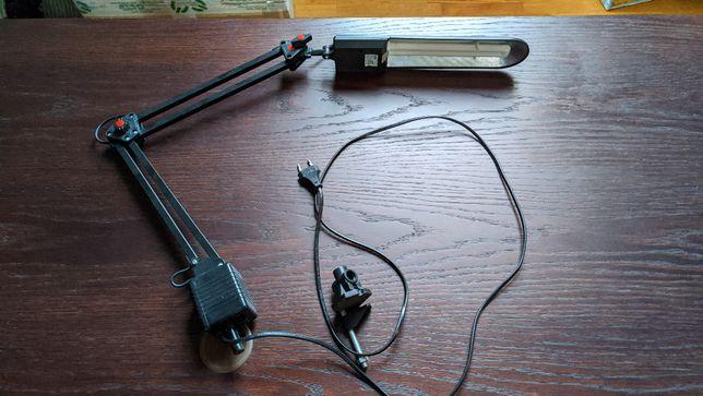 Lampa biurko Świetlówka Czarna 230V
