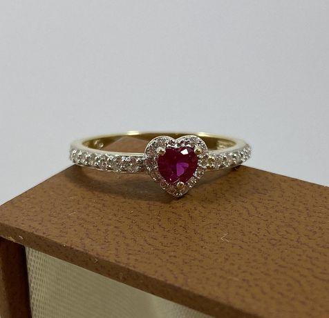 NOWY piękny złoty pierścionek 2,2g / 585 / r. 18