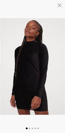 H&M Sukienka,  mała czarna, odkryte plecy, rozm. L