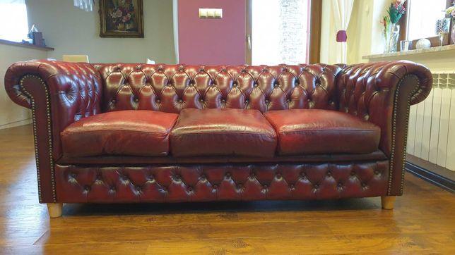 Sofa Chesterfield skóra