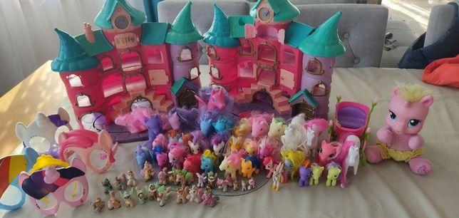 Ogromny zestaw koników Filly i Pony dwa zamki