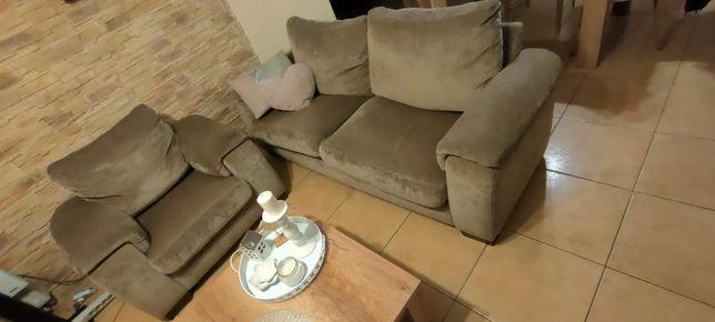 Komplet mebli: sofa, fotel