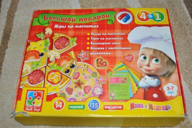 настольная игра пиццерия на магнитах, лото, торт