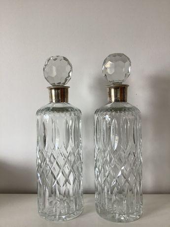 Par garrafas de cristal e Prata Leitão & Irmão