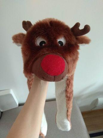 Ciepła świąteczna czapka z rękawiczkami dla maluchów