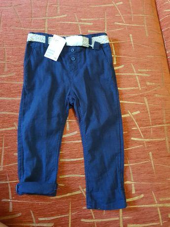 Новые льняные штанишки для малыша, бренда h&m, 92
