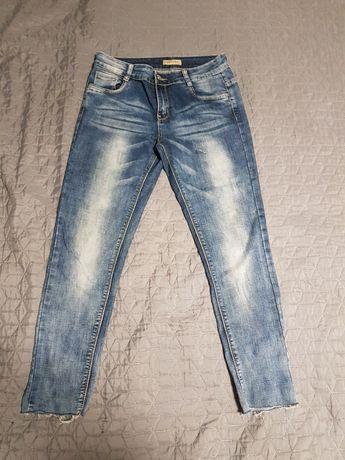 Fajne jeansy rozciagliwe 3/4 M/L