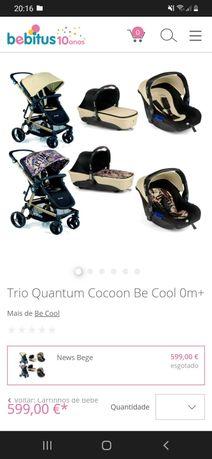Carrinho de bebe Trio Quantum Cocoon Be Cool 0m