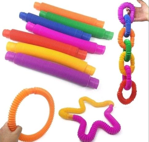 Трубочки pop tube,трубы pop tube,антистресс поп тюб,трубы поп туб