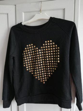 Czarna bluza M 38 zlote serce
