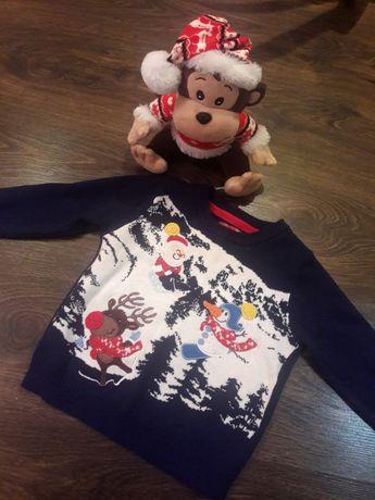 Новогодний детский свитер