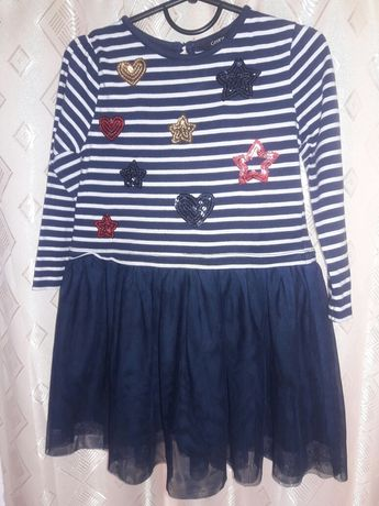 Нарядное платье для девочки с фатином