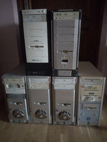 PC stacjonarne kilka jednostek starsze modele. Monitory lcd