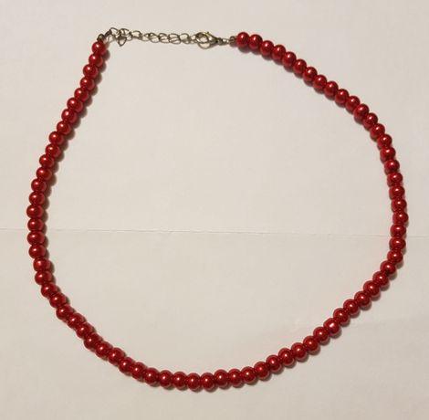 Czerwone koraliki - naszyjnik
