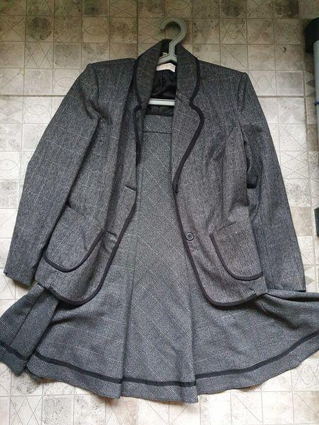 Костюм юбка годе пиджак офис строгий миди