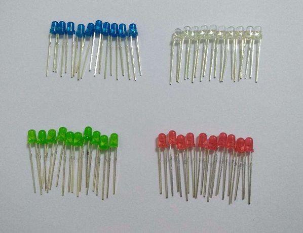Leds de 3 mm alto brilho lotes de 50 peças