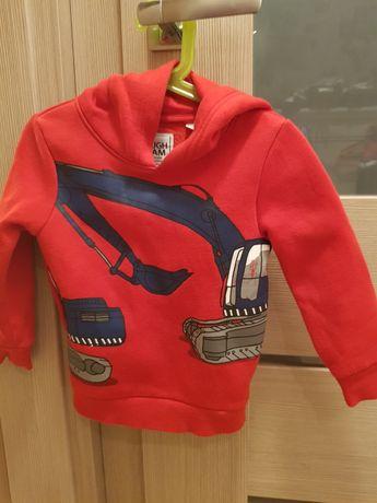 104 c&A bluza z kapturem czerwona