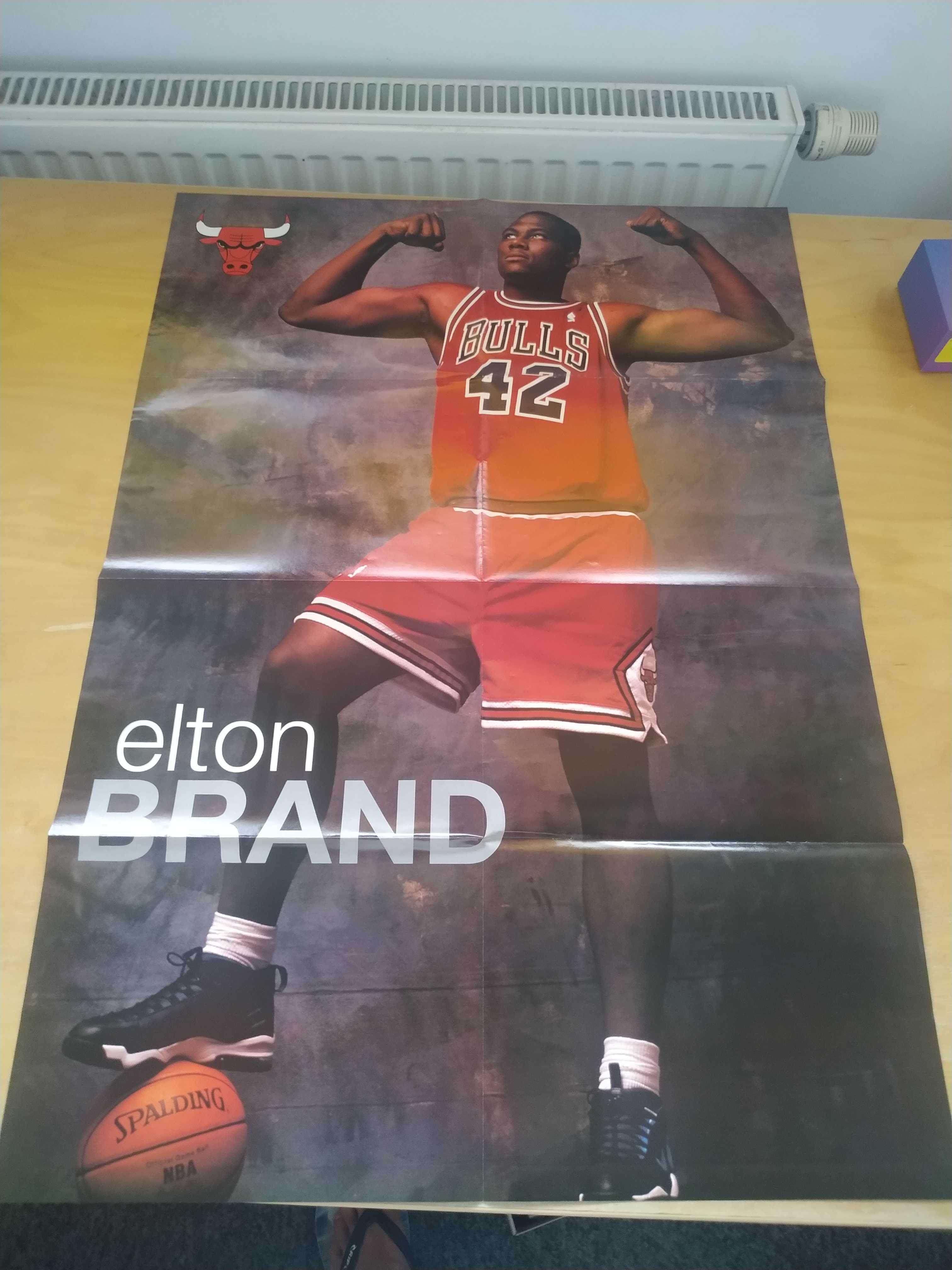 Elton Brand, Bulls, NBA. Duży plakat, nowy!