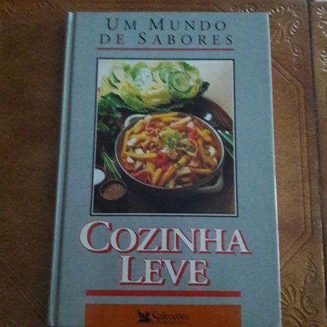 Livro de culinária um mundo de sabores.