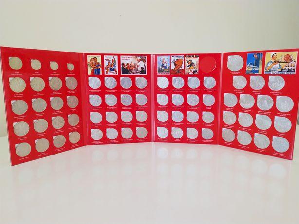 Набор юбилейных монет СССР (1965-1991), 68 штук, в альбоме