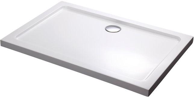 Brodzik prysznicowy prostokątny 120x80x5.5 cm niski slim syfon gratis
