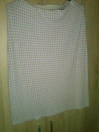 spódnica damska delikatny wzór biało fioletowy