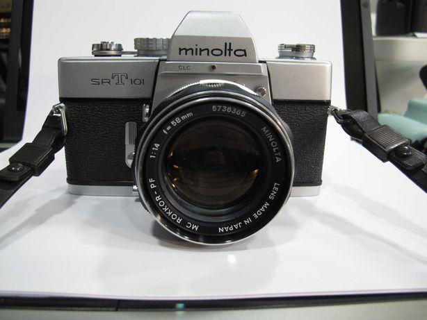 Minolta SRT 101 maquina analogica