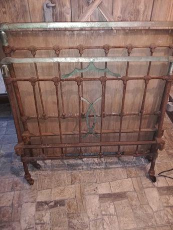 Stare zabytkowe metalowe łóżko do renowacji 198x94