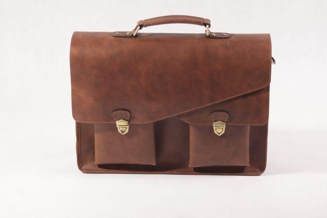 Teczka torba do pracy na dokumenty na laptopa ze skóry premium CORNO