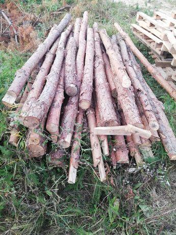 Drewniane stemple budowlane