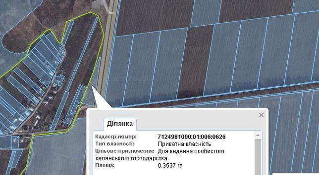 Продажа участка на трассе Черкассы-Смела 35 соток